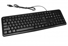 2016 Normal Standard 104 keys Spill Resistant Wired USB Computer/Laptop Keyboard for Office/Home Use balck one size