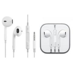 Headphone Earphone Headset Remote + Mic for Apple iPhone 5 5S 5C iPad Mini white