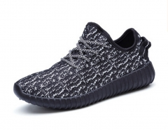 SWISSANT® Yeezy Boost 350 Sneakers Sports Leisure Fitness Running Trainers Mens Womens Unisex Black UK3.5