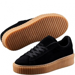 Rihanna Suede Creepers Casual Shoes Woman SWISSANT® black US5