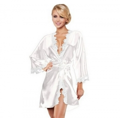 Women Sexy Lingerie Satin Nightgown Chemises Slip Sleepwear SWISSANT® white m