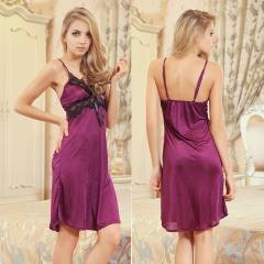 Women's Lace Sexy Lingerie Ice Silk Braces Skirt SWISSANT® purple one size