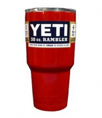 Yeti Rambler Tumbler Stainless Steel Bottle with Lid, Red,30 oz
