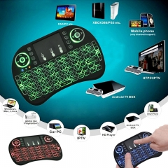 Backlight Mini i8 Wireless Keyboard 2.4GHz  Air Mouse Remote Control Touchpad For Android TV Box DEFAULT 14.7x9.7x1.9CM
