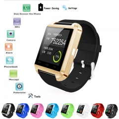 U8 Bluetooth Smart Wrist Watch Phone Mate For IOS Android iPhone Samsung HTC LG Black Normal