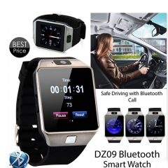 DZ09 Bluetooth Smart Wrist Watch Phone Mate For Android & IOS iPhone Samsung LG Black Normal
