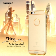 REMAX Shine Protective shell For iPhone SE / 6S / 6s Plus  Electroforming process, diamond cutting Rose Gold IPhone 6/6S puls