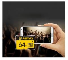 REMAX 64GB SPEED FLASH MICRO SDXC CLASS Memory Cards Yellow remax 64GB