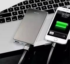 Proda PPP-12 Super alloy 10000mAh lithium polymer battery 2 USB outputs silver 10000mah