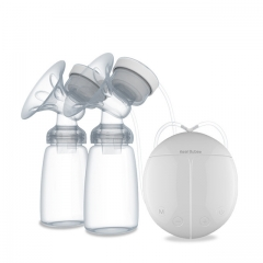 Breast Pump with Milk Bottle for Mothers - Powerful Double Intelligent Microcomputer USB Electric White one size