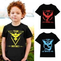 Fashion Cotton Short Sleeve Children's Clothes For Boys Pokemon Go Short Sleeve Kid Boy Tops T-shirt blue 5T