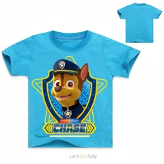 Fashion Baby Boy Cotton T-shirt White Children's Clothes For Boys Paw Patrol Short Sleeve Kid Tops blue 6T