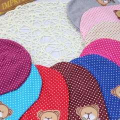 Warm Cotton Newborn Baby Girls Bear Hat Crochet Baby Boy Caps Cute Boys Girls Accessories Blue one size