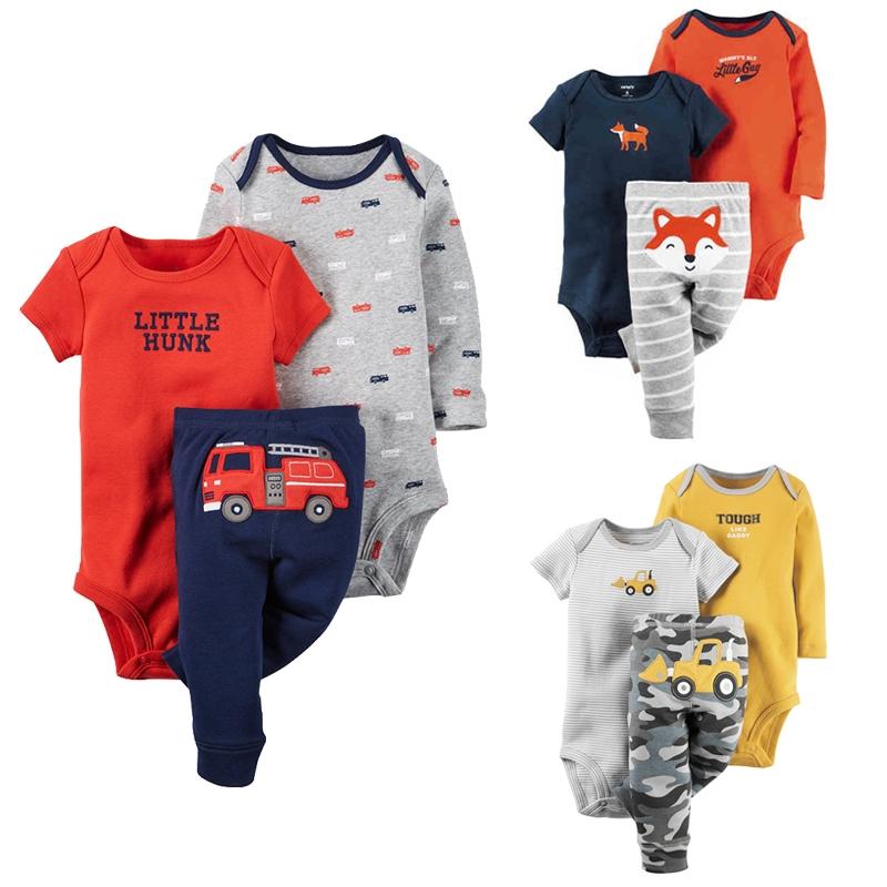 5629c146b6f2 Carters Cotton Baby Boy Clothing Set Short Sleeve Newborn Baby ...