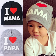 Warm Cotton Newborn Baby Girls Hat Printing Crochet Baby Boy Caps Cute Boys Girls Accessories Gray one size