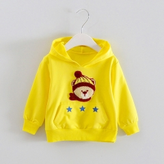 Children's Clothing Boys Hoodies & Sweatshirts Cartoon Kids Coats Long Sleeve Girls Jacket yellow 90