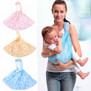 Ergonomic Baby Carrier Adjustable Cotton Newborn Infant Single Shoulder Front Facing Baby Carriers blue one size