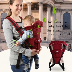 Ergonomic Multifunctional Ventilate Adjustable Buckle Design Mesh Wrap Baby Carrier Backpack red one size