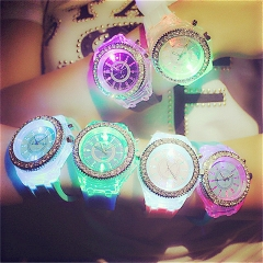 Children 's Watches Fashion LED Light Creative Boys Girls Watches Sports Electronic Students Watch white