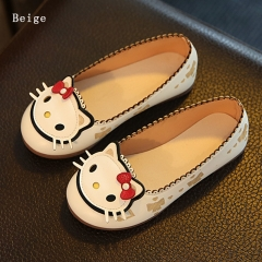 Casual Cute Girl Children's Shoes Hello Kitty Princess Shoes Flat bottom Anti-skid Girl Dress Shoes pink 30