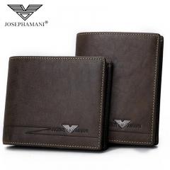 Brand Genuine Leather Men Wallet Multifunction Bag Cowhide Business Card Pack coffee 12cm*9.5cm*2cm
