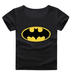 Fashion Batman Printing Baby Boy T-shirt Summer Short Sleeve Kid Tee Cotton Children Clothing black 90