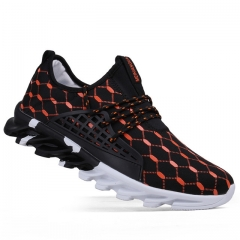 Men Casual Shoes Spring Autumn  Trainers Breathable Flats Walking Shoes Hombre Fashion Shoes Male Orange us5(24.5cm)