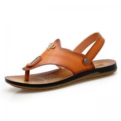Shoes men Fashion style men casual shoes plus size genuine leather men flat shoes Best quality yellow us5(24.5cm)