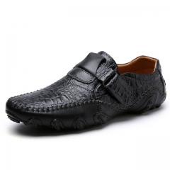 The New Men's Shoes Breathable Microfiber Leather Men'S Casual Shoes black us7.5(27.0cm)
