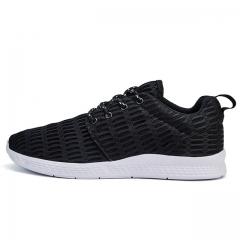 2017 NEW Fashion Men casual shoes woMen's flats Shoes men breathable  lovers Casual Shoes black us3(22.5cm)