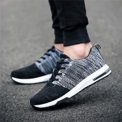 2017 NEW Fashion Men casual shoes woMen's flats Shoes men breathable  lovers Casual Shoes black us5(24.5cm)