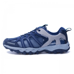 2017 NEW Fashion Men casual shoes woMen's flats Shoes men breathable  lovers Casual Shoes black blue us3(22.5cm)