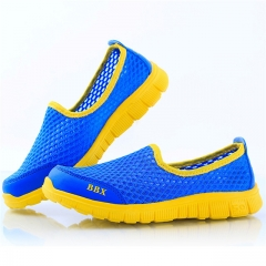 summer new childrens shoes breathable mesh upper sneakers boys and girls blue us9.5(157mm)