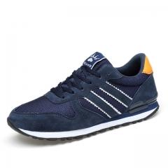 Men Brand Shoes Casual Shoes Mens Trainers Breathable Camo Shoes blue us7.5(24.5cm)