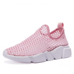 Lovers shoes  Outdoor Wading Shoes Lightweight Shoes  Summer the big hole Breathable Mesh men Shoes pink us5.5(22.5cm)