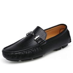 Big Size 38~48 High Quality Genuine Leather Men Shoes Soft Moccasins  Brand Men Comfy Driving Shoes black us7.5(24.5cm)