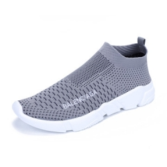 lovers 2017 Fashion Casual Flying shoes Breathable and Hard-Wearing  Wear Shoes Male Outdoor Walkin grey us5.5(22.5cm)