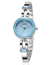 Ladies' Blue Dial, Stainless Steel Bracelet Watch - Silver