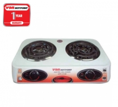 Von Hotpoint Table Top Double Coil Cooker (HPTC-21CW) - White