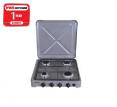 Von Hotpoint 4 Gas Cooker O-440.S Silver silver