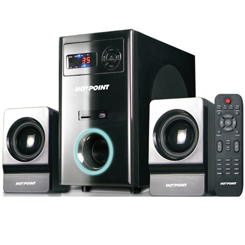 Von Hotpoint 2.1 Channel Subwoofer with SD /MMC Card Slot and USB Port (HA6530M)