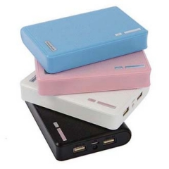 Led light mobile phone charger Wallet Shaped external Battery portable charger 20000 mah white 20000mah