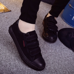 Black cloth shoes men work canvas sports training labor insurance shoes black 39