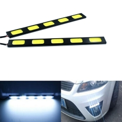 10X 5 LED COB 24W 12V Waterproof Daytime Running Light DRL Auto Car Driving Front Fog Lamp