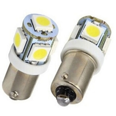 2X Car Marker Lamps T11 Ba9s T4w 5050 SMD 5 LED Auto Wedge Marker Light LED Bulb