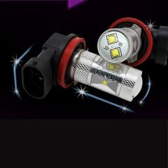 2X H11 30W LED  White Car Auto Fog Light Car Headlight  Lamp Bulb
