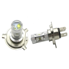 2X 30W White H4 LED Fog Light Bulb High Low Beam Headlight