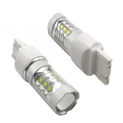 2X T20 80W 16SMD White High Power LED Light Bulbs Car Stoplight/Brake light