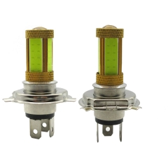 2 X 20W White H4 COB LED Car Fog Light Bulb/ Auto Fog Lamp