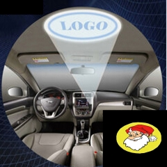 Car Cigarette Dome Roof Reading Laser Projector Ghost Shadow Decorative Atmosphere LED   Light